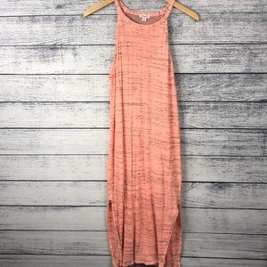 Splendid Maxi Dress Large Coral Color